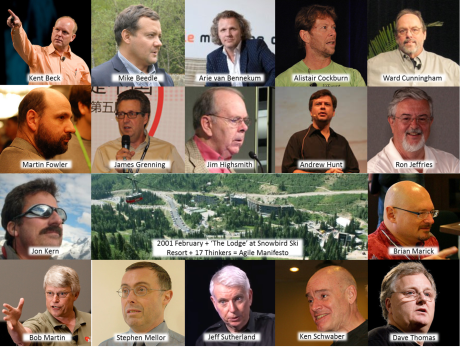 Agile Manifesto werd opgesteld door 17 auteurs, in februari 2001.
