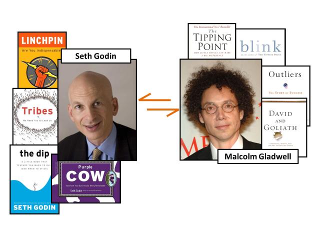 Seth Godin vs Malcolm Gladwell